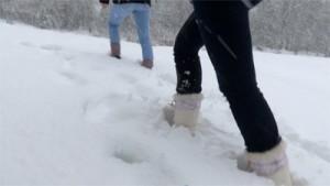 Empreintes neige